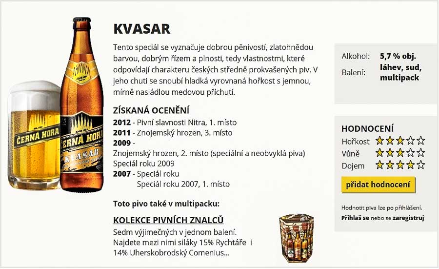 Чешское пиво. Ароматизированное пиво «Černá Hora 14° Kvasar»