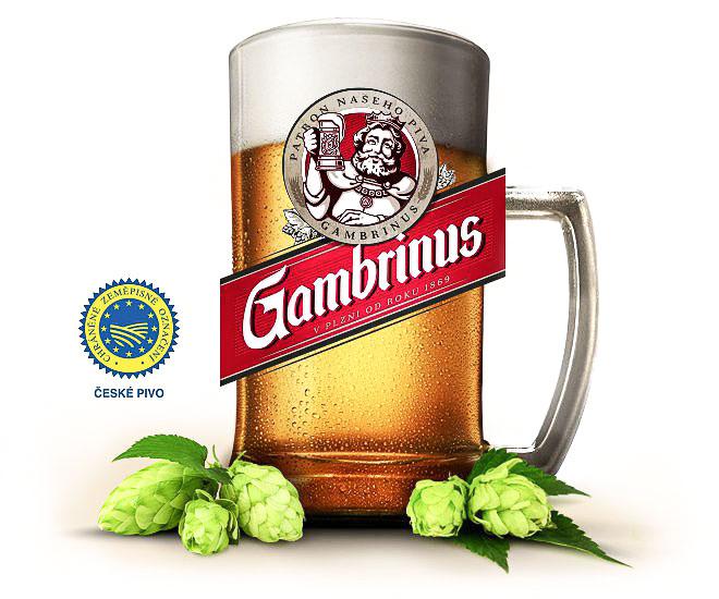 Чешское пиво. Светлый непастеризованный лагер «Gambrinus 10°»