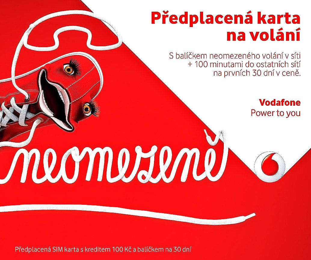 Předplacená karta оператора «Vodafone»