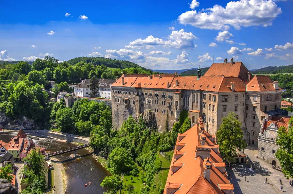 Замок Крумлов. Южночешский край. Богемия