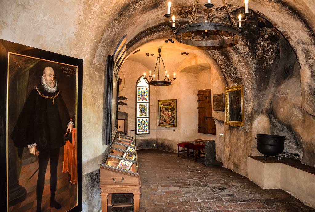 Замок Чески-Крумлов. Экспозиция музея замка