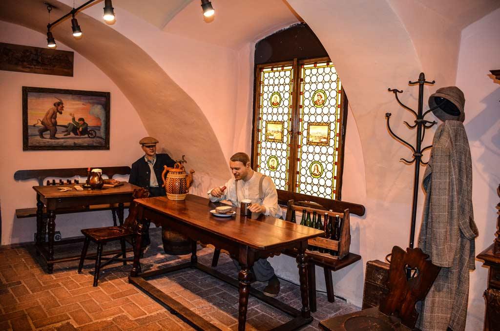 Пльзень. Экспозиция музея пивоварения