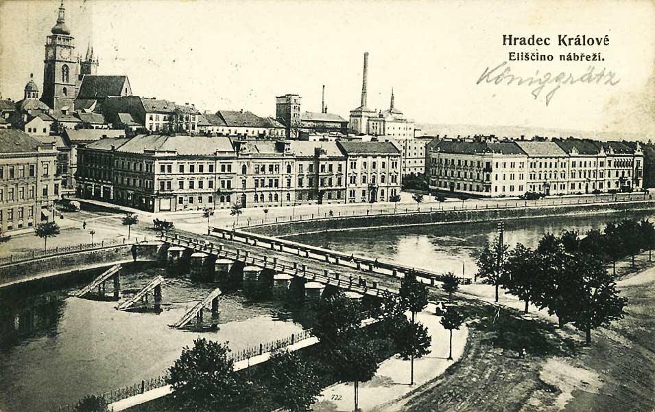 Градец-Кралове. Бывший Эльбский мост