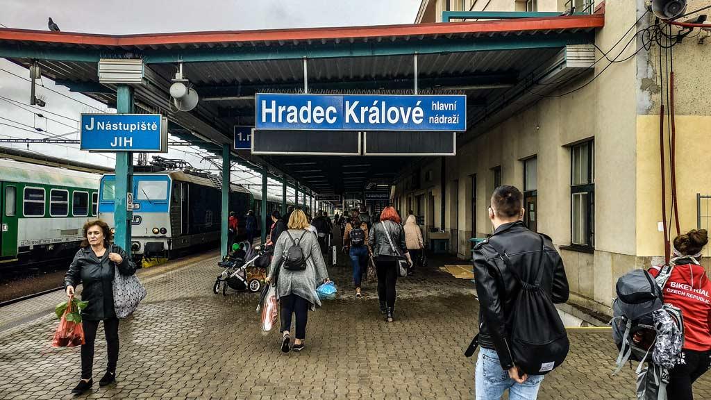 Градец-Кралове. Железнодорожный вокзал
