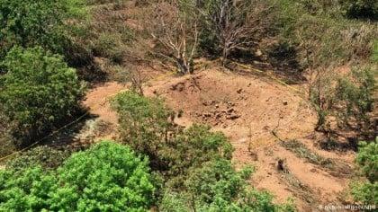 Nikaragua'da oluşan krater (Fotoğraf: BBC News)