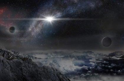 Galaksimiz dışı bir gezegenden görünüş canlandırması (Credit: Beijing Planetarium / Jin Ma)