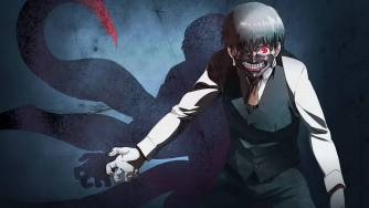 Kaneki with his Ghoul mask