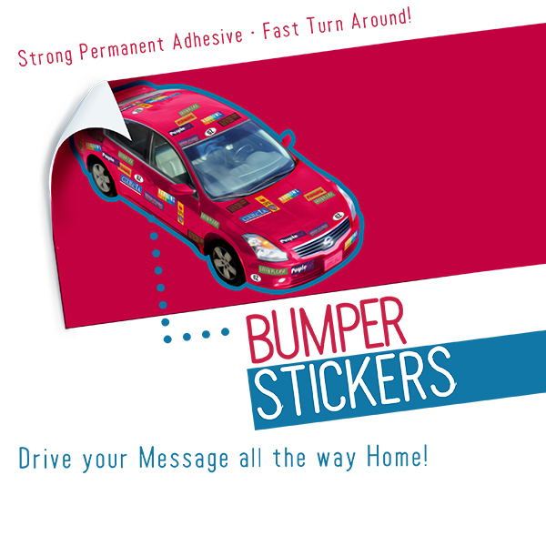 Custom Bumper Stickers Printing For Cars UZ Marketing - Custom car bumper stickers