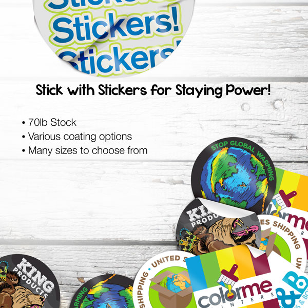 Custom Stickers for Branding and Advertising your products and Services