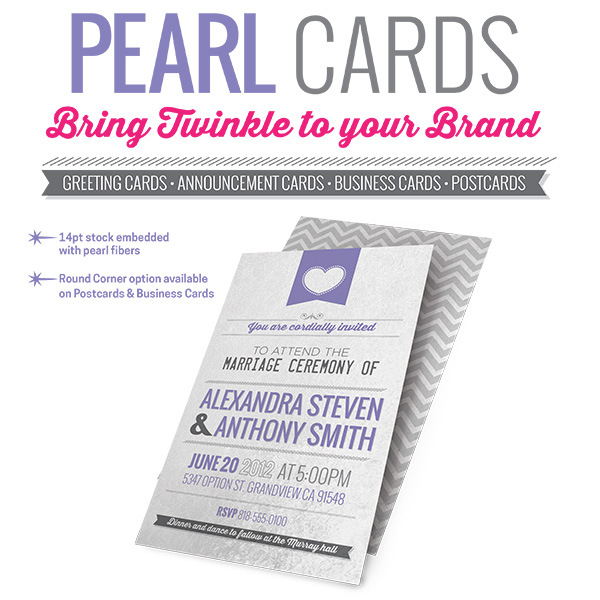Pearl Metallic Business Cards Custom Printing
