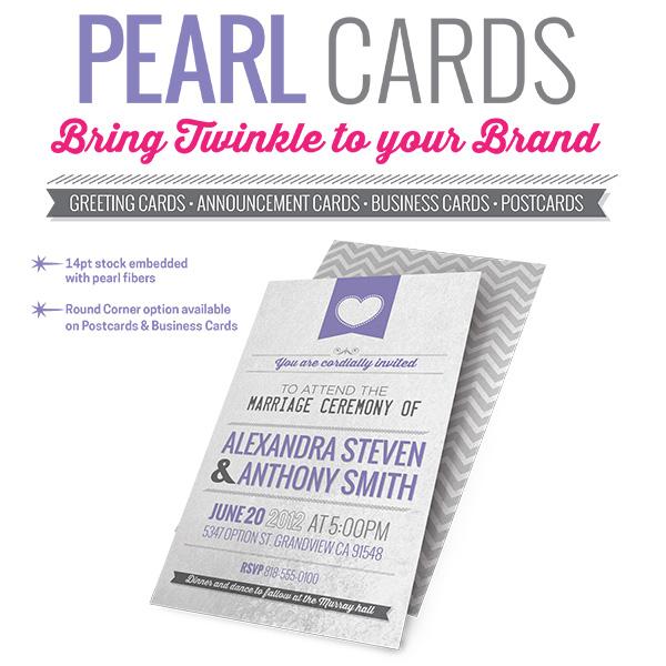 pearl metallic business cards custom printing