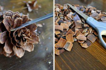 Варианты украшений из шишек, которые можно сделать своими руками