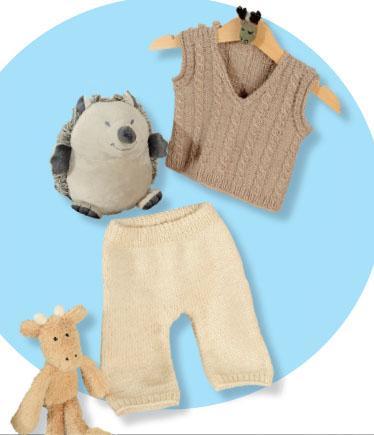 Вязание для малышей ЖАКЕТ, ЖИЛЕТ И БРЮЧКИ СПИЦАМИ