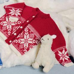 Вязание для малышей ЖАКЕТ СПИЦАМИ ЖАККАРДОВЫМ УЗОРОМ