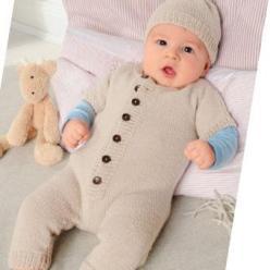 Вязание для малышей КОМБИНЕЗОН И ШАПОЧКА СПИЦАМИ