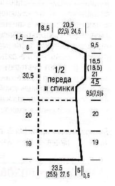 Летнее ажурное платье в полоску спицами