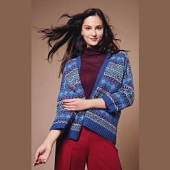 Вязание для женщин. Жаккардовый жакет спицами