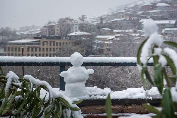 Тбилиси в снегу. Февраль 2021