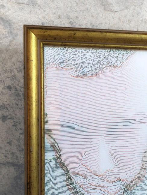 Autoportrait, Réinterprétation dimensionnelle n° r_423-13, tirage sur papier, 13 x 18 cm, détail