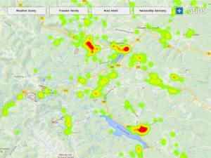 Analyse von Gästen in der Destination während der Reise