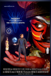 The V: Sacrifice of the Constellations saga poster. Featuring The V, Arbhaddon (right) and Abrida (left).