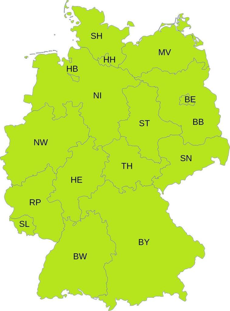 Deutschlandkarte_gruen