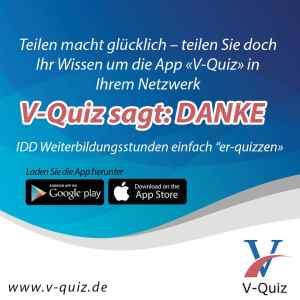 Gefällt Ihnen V-Quiz? Weiterbildung für die IDD Stunden
