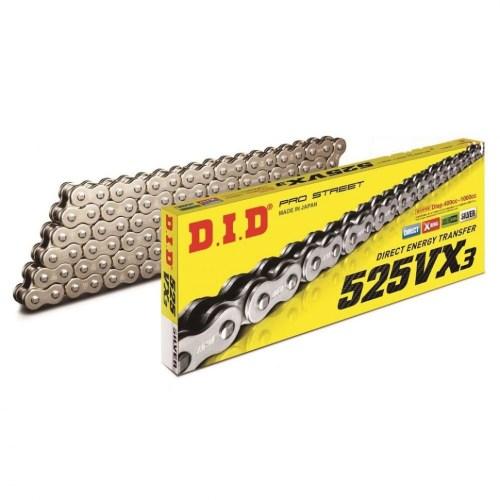 Приводная цепь для мотоцикла DID525VX3 124 звена