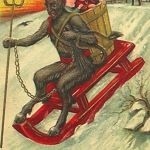 Krampus. Vintage post card