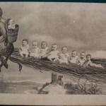 Krampus . Vintage post card