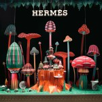 Forest Folks .New artist window display project for the opening of a new Hermès store in Dubai (Mall of the Emirates)