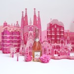 Paper Barcelona . Creation of a paper city, inspired by Barcelona, for MIA by Freixenet