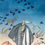 A Large Flock of Birds . Kay Nielsen