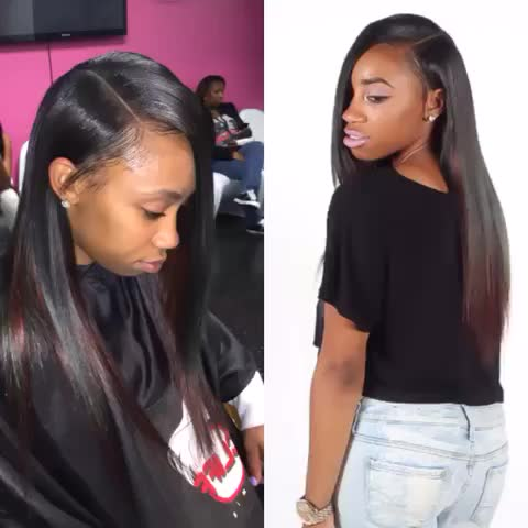 watch cliffvmir s vine sew in side part