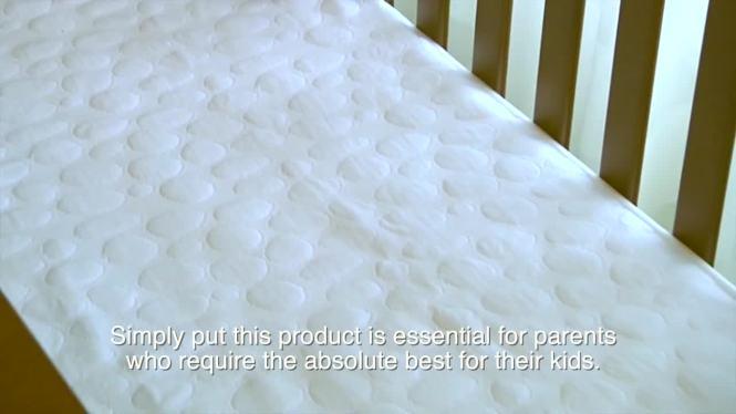 Watch The Video For Dreamtex My Little Nest Pebbletex Waterproof Organic Cotton Crib Mattress Pad Covers 2 Pack