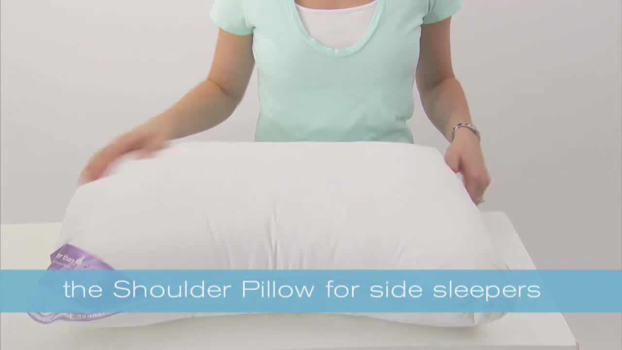 brookstone biosense memory foam shoulder pillow with better than down cover