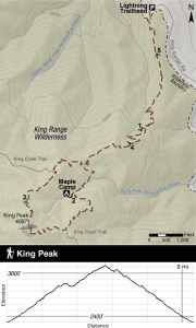 Map to King Peak by Jason Barnes