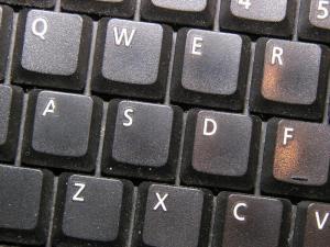 Danielle's disembodied keyboard