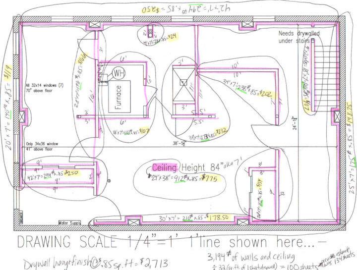 Drywall estimate