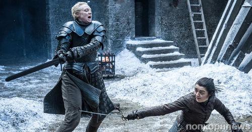 Мэйси Уильямс тренируется драться на мечах для съемок 8 сезона Игры престолов