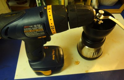 Coffee grinder plus cordless drill