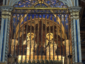 Inside the baldacchino at St John Lateran