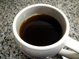 Brewed coffee ready for drinking