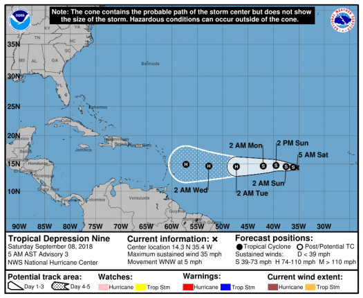 Tropical depression 9 2018-09-08