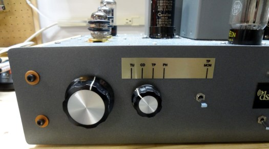 Audio amp front panel