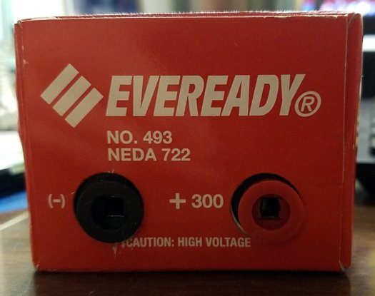 Eveready 300V #493 battery terminals