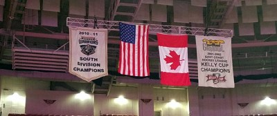 Flags at the Bon Secours Wellness Arena