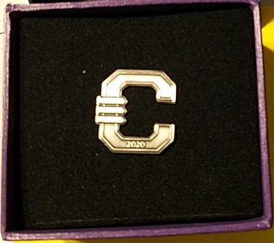 Clemson PhD graduation pin