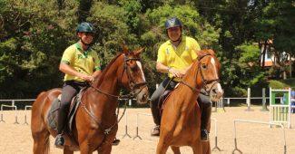 Luis Varanda e André Parro em um dos últimos treinos no CHSA (C. May)