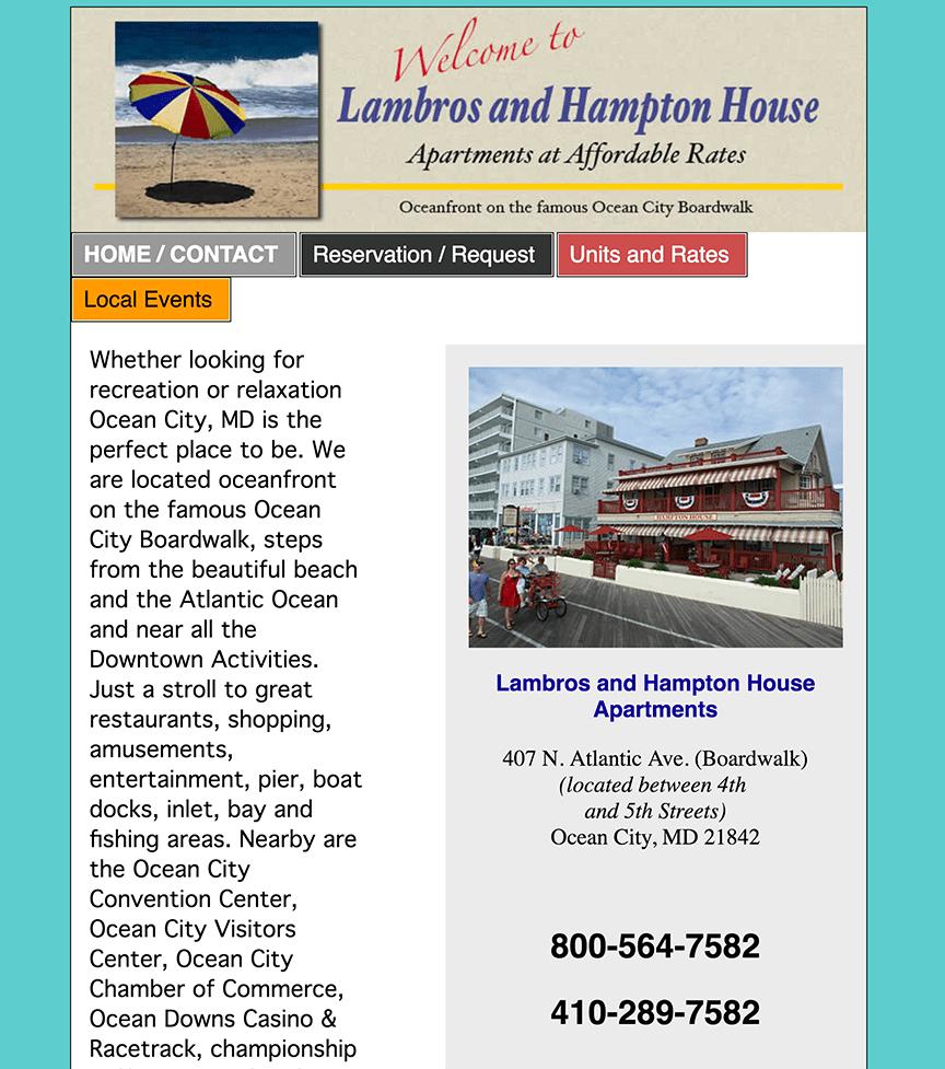 www.lambrosandhamptonhouse.com